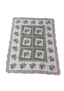 Maylee Patchwork Cotton Carpet (Ct Star-Brown)