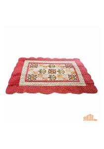 Maylee Red Flower Patchwork Velvet Carpet (Ct V Flower Patch R)