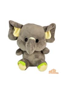 Maylee Cute Little Plush Elephant 20cm Grey