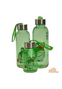 Maylee High Quality Glass Bottle Rabbit Design 320ml (Green)