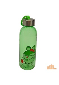 Maylee High Quality Glass Bottle Rabbit Design 180ml (Green)
