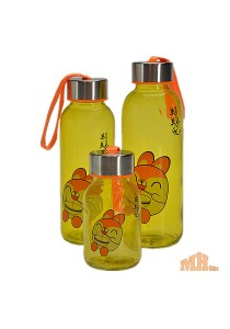 Maylee High Quality Glass Bottle Rabbit Design 320ml (Yellow)