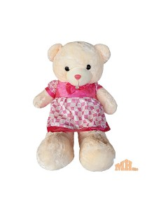 Maylee Big Plush Teddy Bear with Skirt Dark Pink 100cm