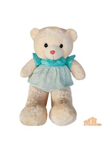 Maylee Big Plush Teddy Bear with Skirt Greenish Blue 100cm