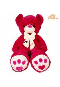 Maylee Big Plush Teddy Bear 80cm Red
