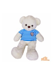 Maylee Big Plush Teddy Bear with Shirt Blue (M) 60cm