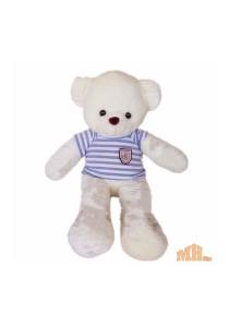 Maylee Big Plush Teddy Bear with Shirt Grey (M) 60cm