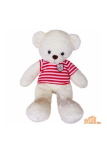 Maylee Big Plush Teddy Bear with Shirt Red (M) 60cm