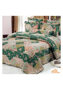 Maylee Yh8119 Cadar Patchwork Green Flower Set of 6