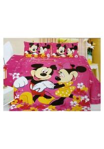 Cartoon Themed Single Sized Bedding Set of 3 (M&M)