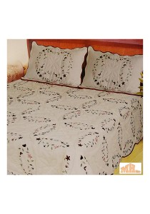 Maylee XY103 Hand Made High Quality Cotton Patchwork King Bedspread Set of 3