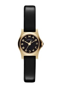 Marc by Marc Jacobs Black Dial Black Leather Ladies Watch MBM1240