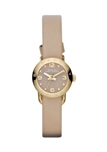 Marc by Marc Jacobs Henry Dinky Taupe Dial Taupe Leather Ladies Watch MBM1251