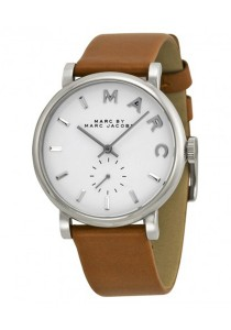 Marc by Marc Jacobs Women's Baker Mocha Textured Leather Strap Watch MBM1265