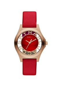 Marc by Marc Jacobs Women's Henry Round Red Strap Watch MBM1338