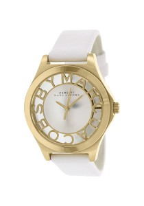 Marc by Marc Jacobs Henry White Dial White Leather Ladies Watch MBM1339