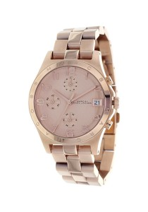 Marc by Marc Jacobs Women's Henry Classic Rose Gold-Tone Stainless Steel Watch with Link Bracelet MBM3074