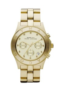 Marc by Marc Jacobs Women's Blade Gold-Tone Stainless Steel Watch with Link Bracelet MBM3101