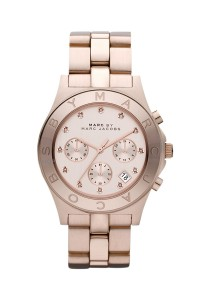 Marc by Marc Jacobs Women's Chronograph Blade Rose Gold-Tone Stainless Steel Watch with Link Bracelet MBM3102