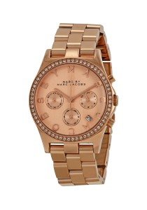 Marc by Marc Jacobs Women's Henry Rhinestone-Accented Rose Gold-Tone Analog Watch MBM3118