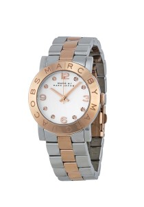 Marc by Marc Jacobs Women's Amy Two-Tone Stainless Steel Watch with Link Bracelet MBM3194