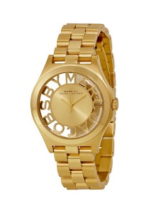 Marc by Marc Jacobs Henry Champagne Dial Gold-plated Ladies Watch MBM3292