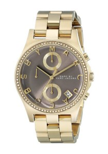 Marc by Marc Jacobs Women's Chronograph Henry Gold-Tone Stainless Steel Bracelet Watch MBM3298