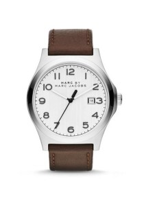 Marc by Marc Jacobs Men's Jimmy Brown Leather Strap Watch MBM5045
