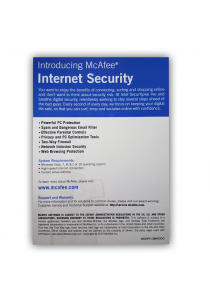 McAfee Internet Security (2016) 1 Users 1 Year