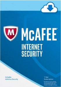 Mcafee Internet Security 2017 - 1 Year 1 PC - Digital Download - Windows 10 8.1 7 Supported