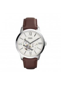 FOSSIL ME3064 Mechanical Cream Dial Brown Leather Men's Watch
