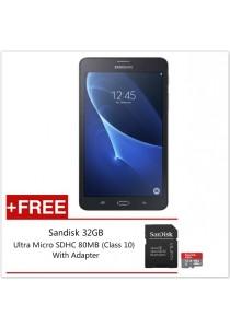 Samsung Galaxy Tab A 7 8GB Wth Wifi + Cellular (Black) + FREE Sandisk 32GB MicroSD Card
