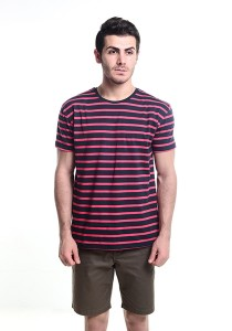 Skelly Evenlike Stripe T-Shirt (Red)