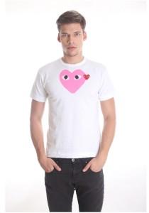 Comme des Garcons Men's Short Sleeve T-shirt [DM0001] White