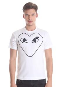 Comme des Garcons Men's Short Sleeve T-shirt [DM0002] White