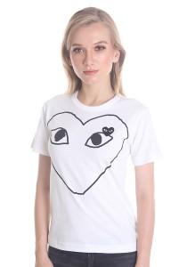 Comme des Garcons Women's Short Sleeve T-shirt [DL0002] White