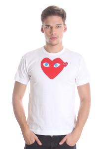Comme des Garcons Men's Short Sleeve T-shirt [DM0003] White