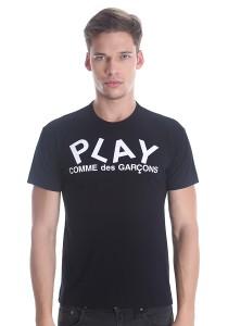 Comme des Garcons Men's Short Sleeve T-shirt [DM0008] Black