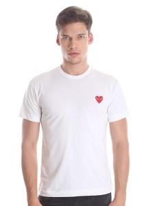 Comme des Garcons Men's Short Sleeve T-shirt [DM00010] White