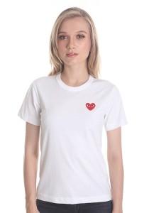Comme des Garcons Women's Short Sleeve T-shirt [DL00010] White