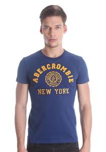 Abercrombie & Fitch Men's Short Sleeve T-shirt [811] Dk. Blue