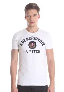Abercrombie & Fitch Men's Short Sleeve T-shirt [878] White