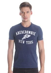 Abercrombie & Fitch Men's Short Sleeve T-shirt [303] Denim