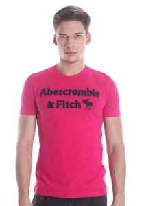 Abercrombie & Fitch Men's Short Sleeve T-shirt [889] Dk. Pink