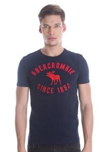Abercrombie & Fitch Men's Short Sleeve T-shirt [813] Dk. Blue