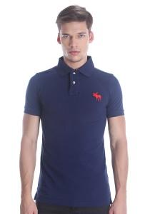 Abercrombie & Fitch Men's Short Sleeve Polo [6001] Dk. Blue
