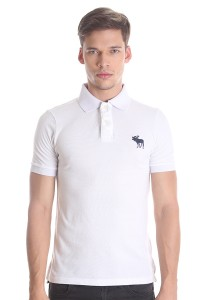 Abercrombie & Fitch Men's Short Sleeve Polo [6001] White