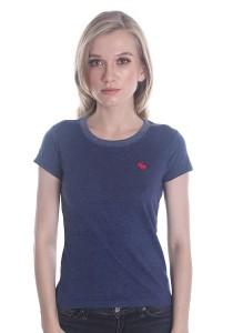 Abercrombie & Fitch Women's Short Sleeve T-shirt [214] Denim