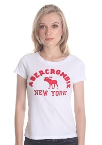 Abercrombie & Fitch Women's Short Sleeve T-shirt [210] White
