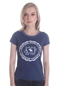 Abercrombie & Fitch Women's Short Sleeve T-shirt [227] Denim